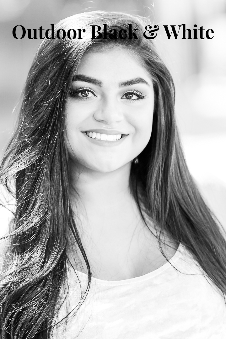Las Vegas Outdoor Black & White Headshot Photographer
